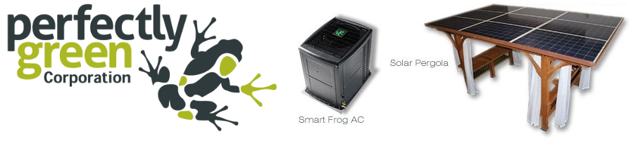Perfectly Green Smart Frog AC & Pergola