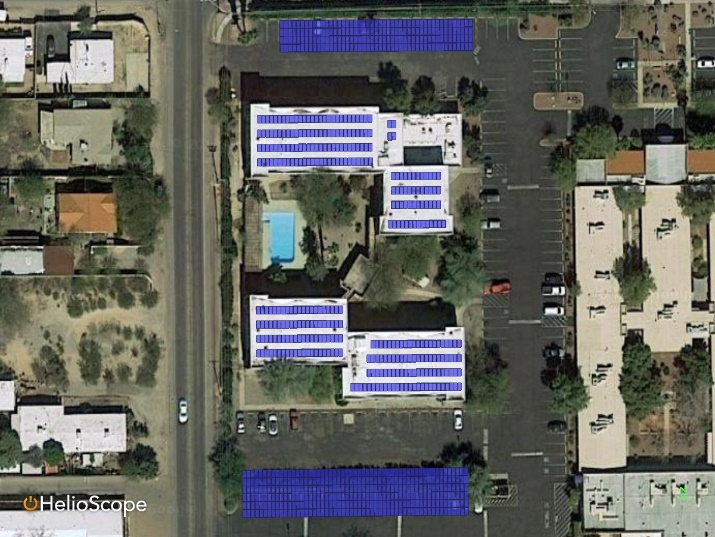 Roof Top & Parking Shade Layout